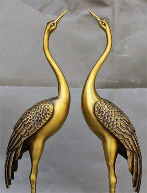 DEER AND CRANE FOR PROSPERITY IN FENG SHUI